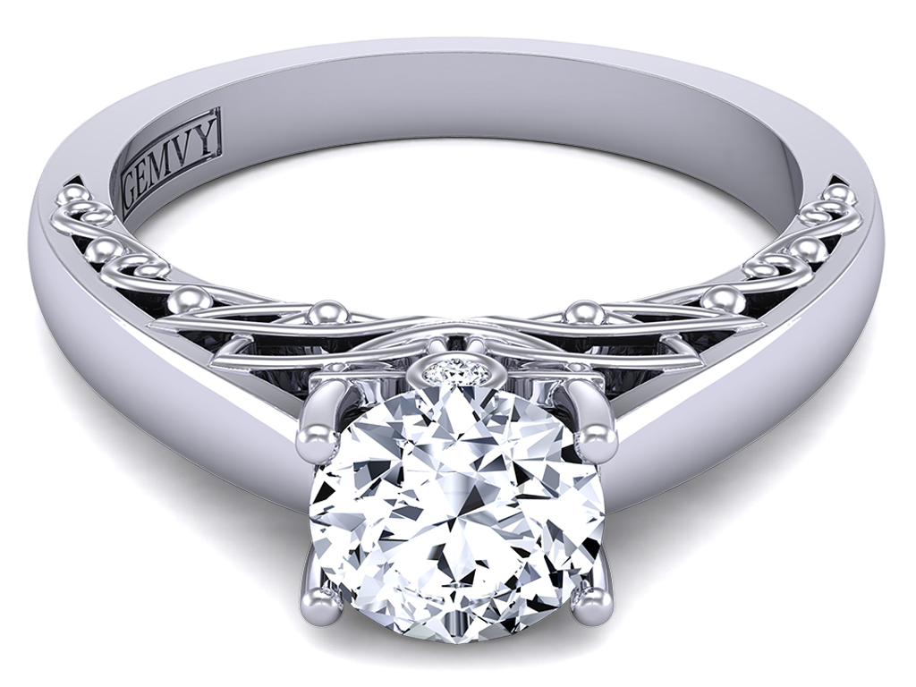 """This is a picture of """"SUNRISE IN TUSCANY""""-Solitaire Diamond Engagement Ring 50"""
