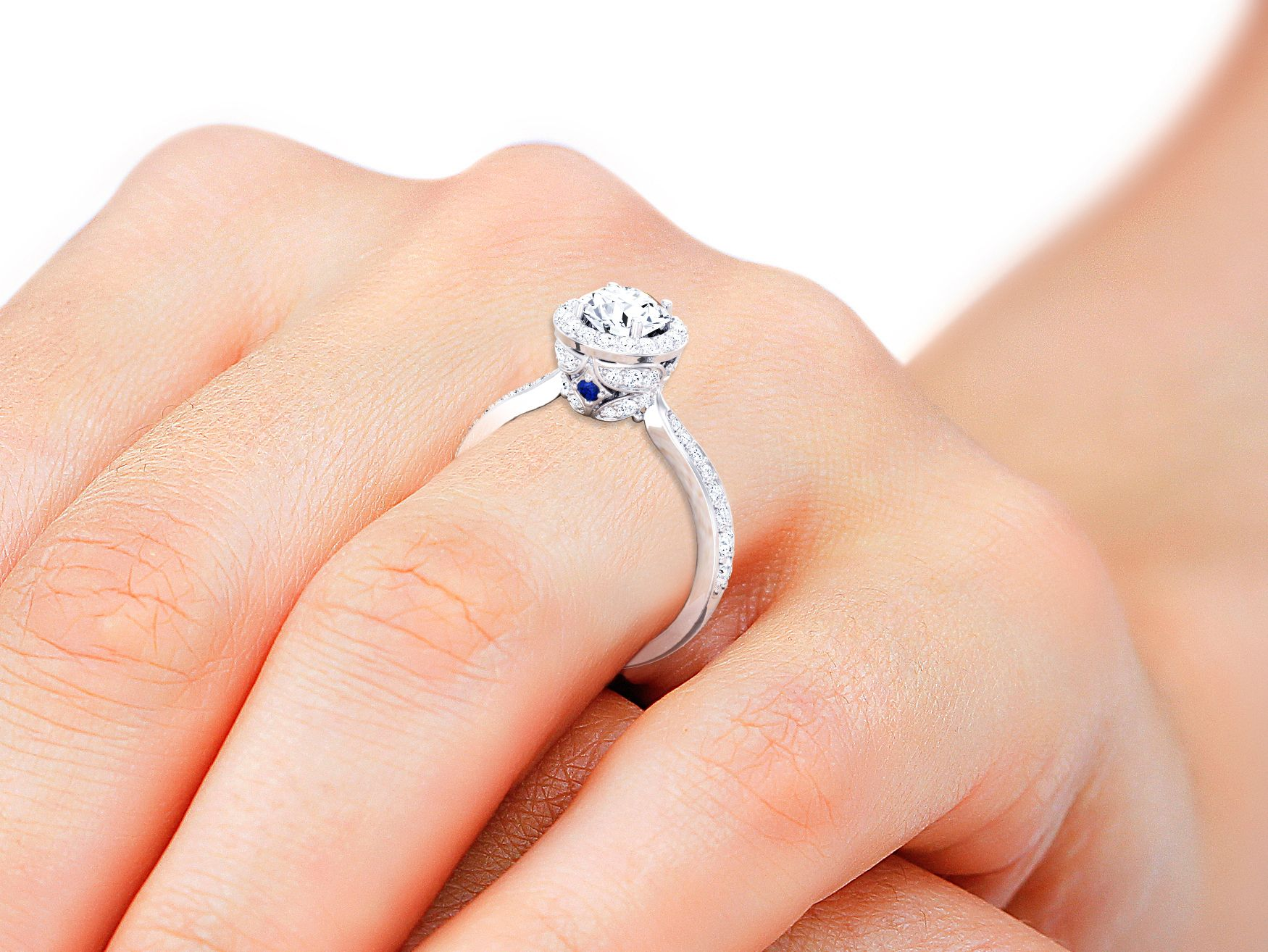 Halo Diamond Engagement Ring 1333